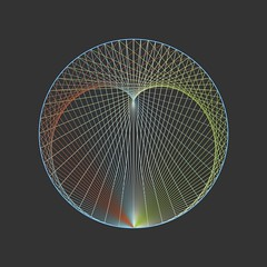 One Bounce (shonk) Tags: abstract illustration design geometry minimal math envelope caustic mathematica cardioid geometricart geometricdesign