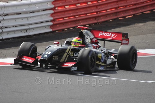 Matthieu Vaxiviere in the Formula Renault 3.5 Saturday Race at Silverstone