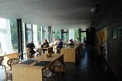 everyone is happy at Maanja restaurant (frescoroberto) Tags: lake lago sedie ristorante architettura interno tavoli vetrate sauris maanja