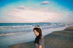 Shine (alif  mim  ya  nun) Tags: sunset portrait seascape beach sunshine female digital 50mm evening twilight sand nikon asia flickr dof shine bokeh sandy femme dramatic portraiture malaysia fade concept conceptual f18 cinematography cinematic seashore malay terengganu toning cinemascope vsco wearegrafy vscocam wearegrafy2015
