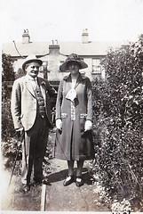 Portrait of a Couple  1926 (Bury Gardener) Tags: 1920s blackandwhite bw vintage oldies