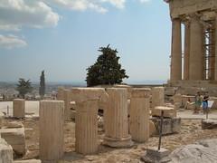 Acropolis columns (mademoisellelapiquante) Tags: architecture ruins athens parthenon greece acropolis ancientgreece ancientart