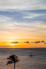 Ka'anapali Beach Sunset, Maui - 18 (www.bazpics.com) Tags: ocean sunset sea summer usa cloud sun west color colour beach water clouds america island hawaii islands us sand unitedstates pacific dusk maui hawaiian hi lahaina kaanapali
