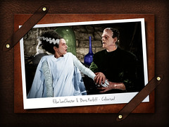 Elsa-and-Boris - Colourised (SMacEwan1) Tags: frankenstein boris elsa colorisation colourised karloff lanchester