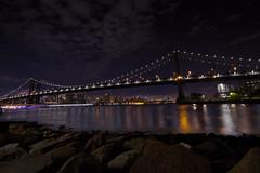 Manhattan Bridge - New York (jack.mihlenstedt) Tags: nightphotography twilight cityscape landscape nikond3100 nikon wideangle sigma1020 dumbo manhattanbridge nyc newyorkcity night bridge brooklyn manhattan