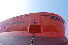 Bow of Bow Mekka (Gunnar Eide) Tags: ocean sea yard dock ship transport chain maritime bow shipping links mekka tanker tankers odfjell