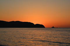 Plain Sunset Shot (Yohsuke_NIKON_Japan) Tags: ocean sunset sea orange coast shimane asari sanin seaofjapan  2485mm  gotsu  d7100