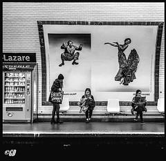 Give your place has the girl quickly (dumontet.gilles) Tags: paris girl monochrome portraits underground subway de stars la blackwhite jump place saintlazare noiretblanc métro ses give exposition your pour invite has philippe magnum femmes ratp quickly agence artiste photographe américain personnalités halsman jumpology publiques célèbre connu exquise sonya7r dumontetgilles