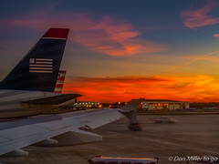 Evening Flight (DonMiller_ToGo) Tags: sunset sky airport sunsets g5 planes hdr goldenhour skycandy 5xp hdrphotography 5exposures sunsetmadness