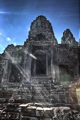 Angkor Wat Lens Flare (Dave Kehs) Tags: blue sky dave canon lens temple ancient war asia cambodia flare 5d angkor kehs 1635