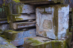 B-2-56 (LaunchOurRocket) Tags: nature stone mystery moss outdoor debris uscapitol refuse rockcreekpark capitolcolumns