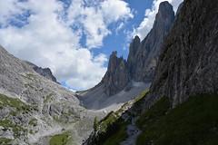 Croda di Toni, górne piętro Val Fiscalina