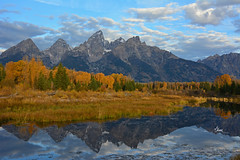 Tetons in the Fall - 1621b+ (teagden) Tags: autumn mountain reflection fall landscape fallcolors scenic grand autumncolors wyoming grandtetons gt teton tetons grandteton waterreflection grandtetonnationalpark mountainlandscape landscapephotography tetonmountains gtnp jenniferhall jenhall jenhallphotography jenhallwildlifephotography