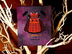 Halloween Dalek (GATACA1952) Tags: halloween crossstitch who embroidery vampire metallic doctor doctorwho madeira bats daleks threads