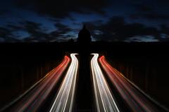 Abbraccio di Luce (Roberto -) Tags: light sunset rome roma muro saint san long exposure traffic explore peter cupola dome villa pietro borghese lunga esposizione pincio torto explored esplora