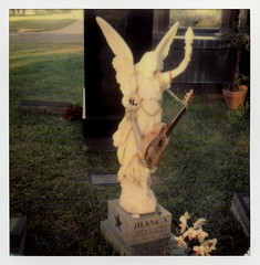 Bianca's Angel (tobysx70) Tags: california santa ca toby 2 sculpture test color film cemetery grave rock stone angel project polaroid sx70 photography for star la beads los wings punk boulevard orchids angeles bass guitar 66 player betty route monica tip cameras hollywood singer type gods instant forever bianca 20 hancock gen pioneer generation tigerstripes rt blvd rte humble blowtorch impossible the gen2 butthole halstead 0515 borntolove livedtorock impossaroid biancas