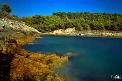 Bay (TimBuro) Tags: blue sea summer water bay meer wasser sommer croatia steine silence blau idyll baden idylle spaziergang klippen bucht langzeitbelichtung tauchen ruhe entdecken rauh