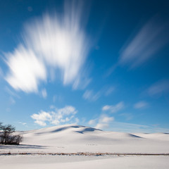 Winter Palouse Dreams (Desert Sun Images) Tags: longexposure winter snow palouse 15seconds movingclouds canonef1740l canon5dmkii bw10stopndfilter