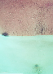 . (h4nouk) Tags: abstract water pool contrast hair body chest teat