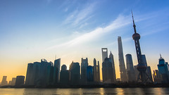 Welcome 2016! #Day1/366 (Owen Wong (Thank you)) Tags: china city sky building skyline architecture skyscraper sunrise landscape shanghai 365   pudong     2016 lujiazui  366    golded