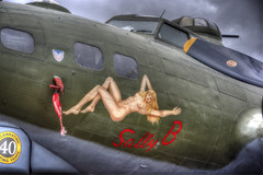 Sally B AKA Memphis Belle (nigdawphotography) Tags: sunset plane airplane fly flying war aircraft aeroplane b17 crew ww2 bomb bomber usaf pilot bombing b17bomber sallyb allied memphisbelle