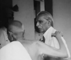 Gandhi and Jinnah (Doc Kazi) Tags: pakistan india independence negotiations ceremonies jinnah gandhi nehru mountbatten viceroy wavell stafford cripps edwina fatima muhammad ali