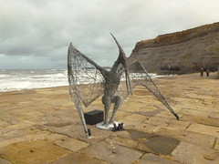 Pterosaur sculpture (rubber rat productions) Tags: pterosaursculpture pterosaur sculpture whitby northyorkshire yorkshire england vogonpoetry