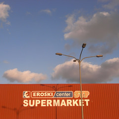 red (the incredible how (intermitten.t)) Tags: menorca espaa balearicislands baleares illesbalears minorca eroski light shadow sunset lowlight supermerket supermarket 20151001 3096 espaa santlluis