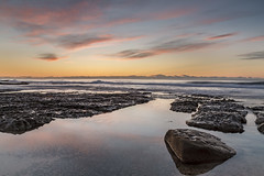 Rocky I (fotowomble) Tags: sunrise clouds rocks australia aus shoreline landscape seascape hdr 6 stop water ocean sea canon fotowomble the entrance little bay toowoon point shelly beach reflections outdoors outside gradual density filter f11 iso 100 16mm 1585mm 7d