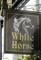 Liskeard White Horse Pub Sign (Bridgemarker Tim) Tags: ukpubs inns whitehorse liskeard
