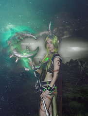 Soraka from League of Legends (Yaiza AB Photography) Tags: soraka cosplay photo manipulation fotomanipulacion zaragoza photoshop cs6 avanzado light nebulosa lol game league legends yaizaabphotography spain aragon