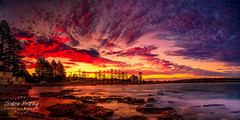 Dee Why Beach with Electric Clouds (Simon Pratley) Tags: 24mm 5dmkiii afternoon amanacer atardecer australia beach blue bluehour canon clouds coast cool costa deewhy deewhybeach dusk evening goldenhour landscape leefilters light longexposure luz northernbeaches nubes ocean orange panorama panoramic pinksky playa purple purplesky reflections rocks seascape shutters simonpratleyphotography sky sunset sydney urban urbanscape wave waves yellow elmar lacosta