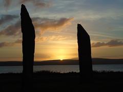 Staning stones of Stenness (stuartcroy) Tags: orkney island scotland scenery sky sea sony still sunset beautiful blue bay