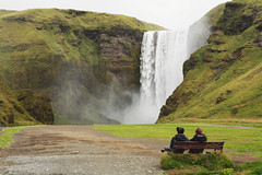 Skgafoss (Sofia Podest) Tags: skogafoss iceland islanda waterfall nature landscape natural water outdoor people rest travel road trip summer 2016 sofia podest sofiapodest cascata
