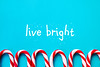 Live bright! (ikrents) Tags: decoration christmas candy wood backgrounds cane material table icing copy holiday celebration homemade gingerbread gift season winter ornate space food dessert ornament sweet view happiness garland frame sugar ribbon blue background rose white top sweets walking sticks striped birthday