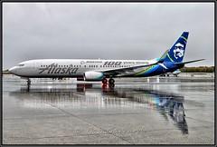 "N248AK Alaska Airlines ""Boeing 100th Anniversary"" (Bob Garrard) Tags: n248ak alaska airlinesboeing 100th anniversary 737 900 anc panc rain strobe"