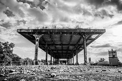 Abandoned Station (Capture Lights) Tags: abandoned bw exploration lines louisville monochrome ricohgr station train urban