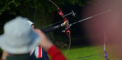 World Field Archery Champion Amy Oliver - Team Great Britain (Owen J Fitzpatrick) Tags: ojf people photography nikon fitzpatrick owen j joe pretty pavement chasing d3100 ireland editorial use only ojfitzpatrick eire dublin republic city tamron unposed social face candid candidphotography candidphoto natural archer archery kit bow compound sport world championship field competition nations international curved killruddery house garden estate amy oliver team gb uk united kingdom great britain longbow long champion winner olympian gold medal recurve bowhunter sifa ifaf championships 2016 bowhunting
