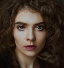 Self (roxanavoloseniuc) Tags: selfportrait portrait portraiture model bigeyes eyes hazel curly naturallight light indoor window windowphoto