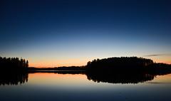 Sunset at lake Valkjrvi (Villikko) Tags: lake sunset jrvi valkjrvi auringonlasku ilta evening night