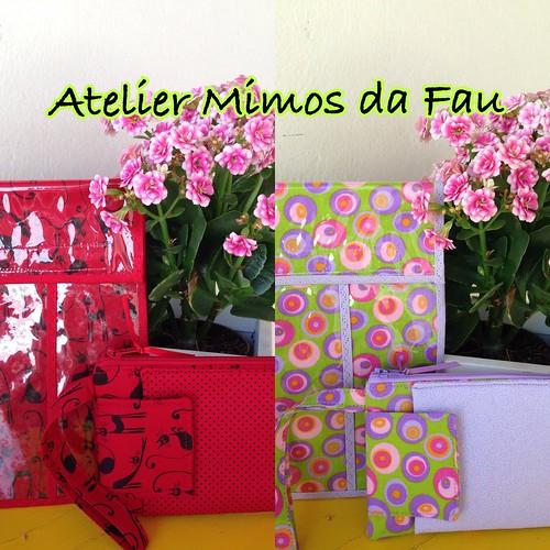 Kit Mimos da Fau. Estojo de Higiene Bucal + Bolsinha Porta Celular.