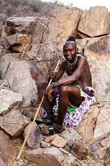 Unmarried Himba Man 4024 (Ursula in Aus) Tags: africa namibia offcameraflash himba portrait male
