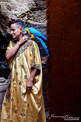 Man and Parrot (jeremyvillasis) Tags: grottesdhercule herculescave tangier tanger morocco maroc cave travel northafrica africa atlantic ocean bird parrot man portrait moroccan male blueparrot