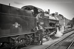 Corfe's 7F (70C Photography) Tags: corfecastle monochrome railways dorset castle 7f 53809 trains swanage unitedkingdom canon7d outdoor 2016 autumn october gala sdjr jamescummins heritage