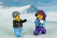 First snow in November (Lesgo LEGO Foto!) Tags: lego minifig minifigs minifigure minifigures collectible collectable legophotography omg toy toys legography fun love cute coolminifig collectibleminifigures collectableminifigure snow snowing ice winter cold
