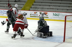 Women's Hockey vs Mercyhurst (mhaithaca) Tags: hockey womenshockey cornellhockey cornellwomenshockey bigredhockey mercyhurst lakers lynahrink goal celebration