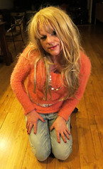 Soft..... (Irene Nyman) Tags: irene nyman dutch tgirl cute pink orange fluffy sweater jeans cuddle soft