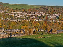 Hawick (penlea1954) Tags: hawick town scottish borders council historic county roxburghshire southern uplands scotland teviotdale hawicks architecture sandstone buildings confluence slitrig water river teviot scenery vista view countryside uk autumn colours