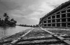 From the top (karan ashar) Tags: backwater kerala india sky water backwaters horizon blackandwhite boat pattern