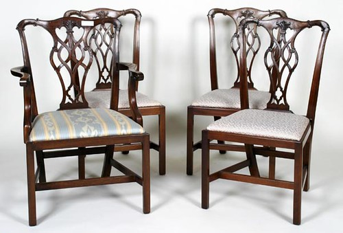 Set of 10 Chippendale Style Virginia Craftsman Chairs ($1,792.00)